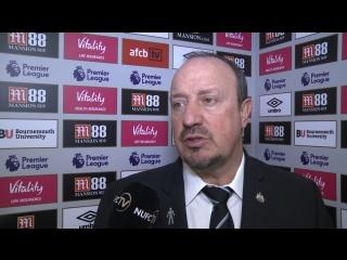 Рафаэль Бенитес о ничьей в матче против «Борнмута» (2:2)