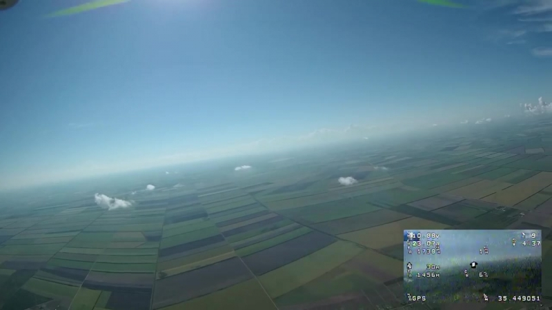 Dji Phantom FPV полет на высоту 2500 м mp4