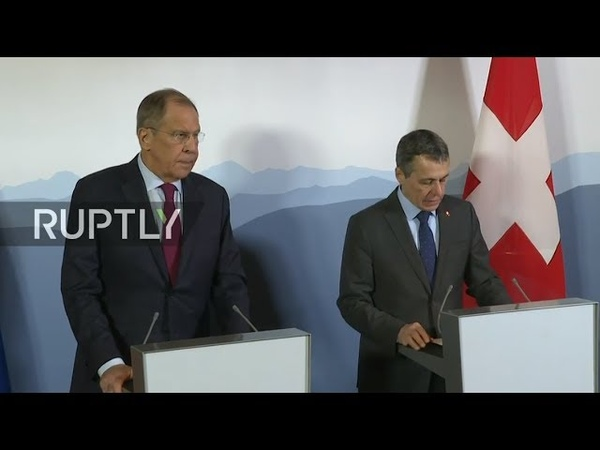 REFEED Lavrov attends Ministerial Conference on Afghanistan in Geneva press conference