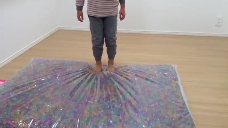 DIY Orbeez Bed Made with Orbeez and Water Beads