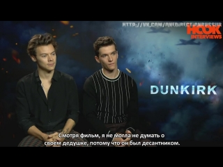 Harry Styles & Fionn Whitehead On Dunkirk, Christopher Nolan & Being Giants | INTERVIEW | The Hook [RUS SUB]