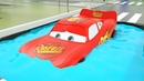 Red Lightning Mcqueen Wheels Glued in Water Pool Cars 3 Replace Tyres for Toddlers