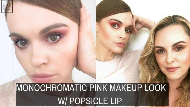 MONOCHROMATIC PINK MAKEUP LOOK W POPSICLE LIP- Holland Roden