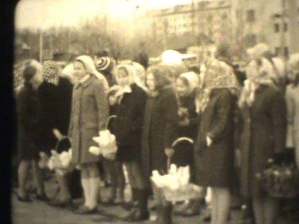 Открытие монумента Славы воинам--костромичам. 1972 год.