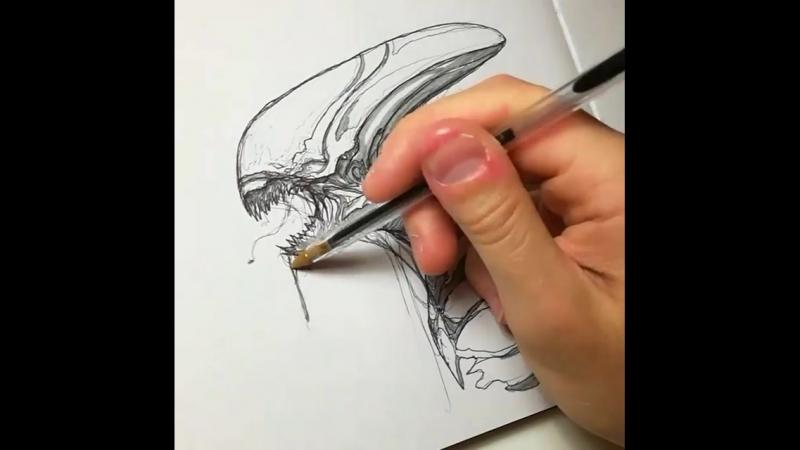 Sketch of Neomorph by Fran Garces