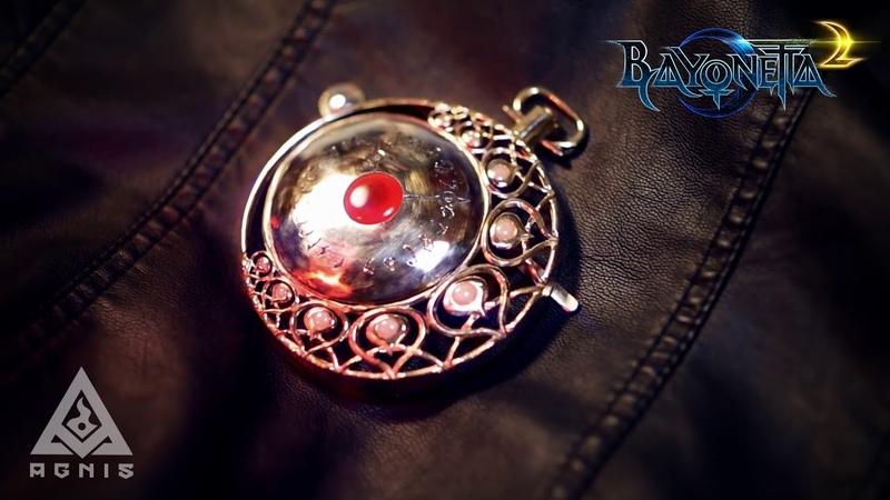 Bayonetta Umbran Watch pendant made by Agnis Jewelry