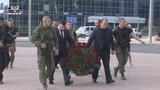 Дмитрий Трапезников и Денис Пушилин возложили цветы к памятнику Иосифу Кобзону в Донецке