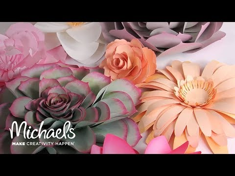 Make Your Own Paper Flowers with Sizzix | Michaels