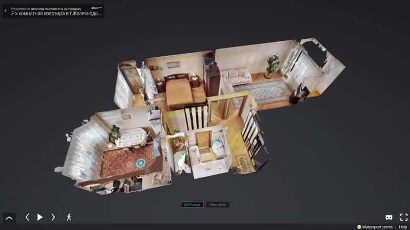 Съемка для агентства недвижимости 2-х комнатная квартира в г.Москва - Matterport 3D