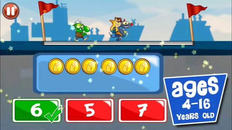 Monster Numbers Gameplay: Math learning games for kids