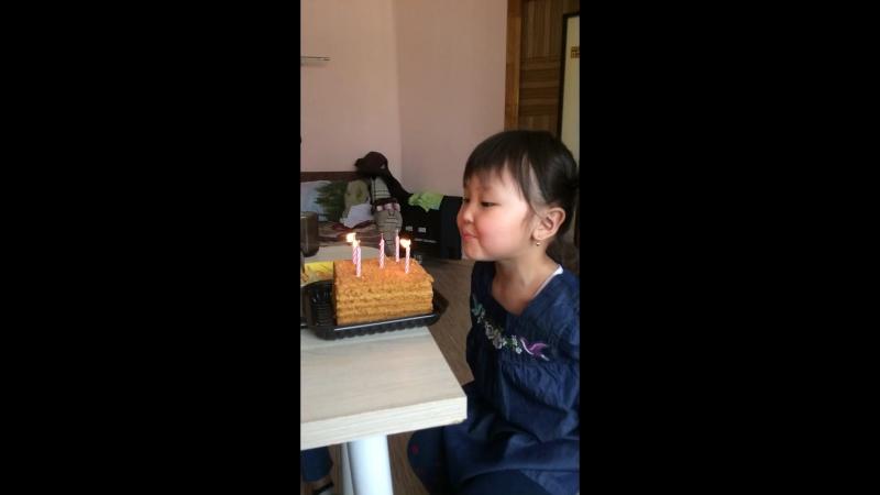 День рождения у дочки