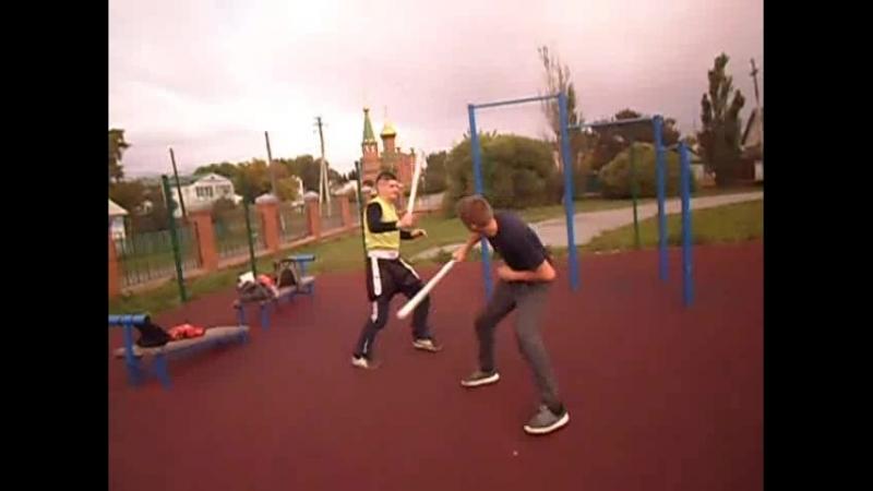 легкий обучающий спарринг фехтование на касание сэми контакт