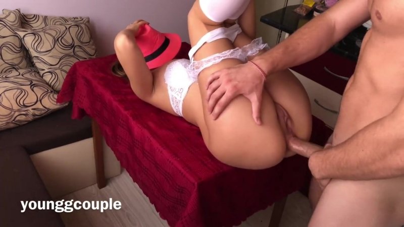 FIT TEEN FUCKED IN THE ASS ON THE