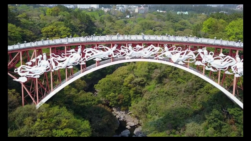 Мост и водопад на острове Чеджу. Круизы с inCruises