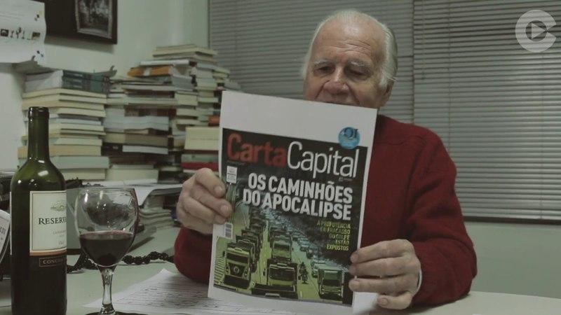 Mino Carta comenta greve dos caminhoneiros Um terremoto está sendo gerado