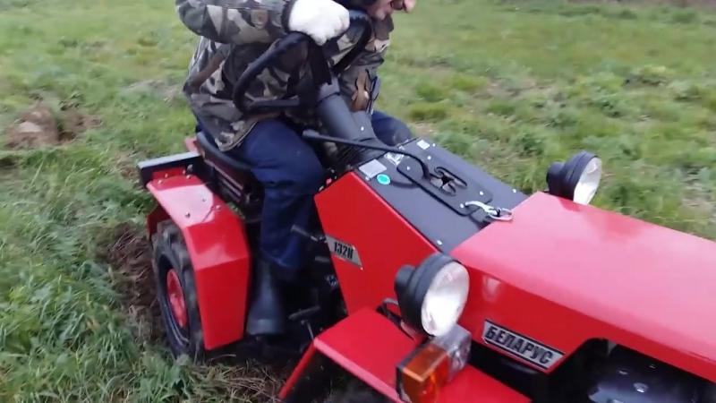 мини трактор Беларус или как мы целину пахали. 15-16 октября 2016 года