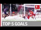 Чемпионат Германии 2017-18 / Лучшие голы 15-го тура / Топ-5 [HD 720p]