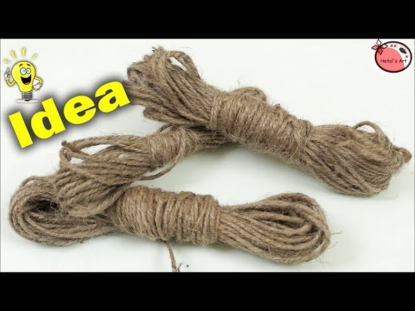Jute Craft Decoration Idea   DIY Room Decor   Handmade Things   Showpiece Making at Home   How to