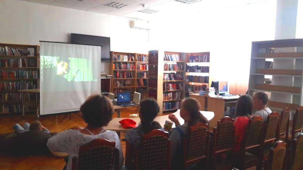 В библиотеке на Корнейчука прошла «Ночь кино»