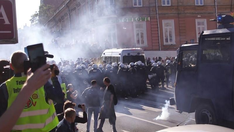 Marsz Równości i kontrmanifestacja w Lublinie (UWAGA NIECENZURALNE SŁOWA)