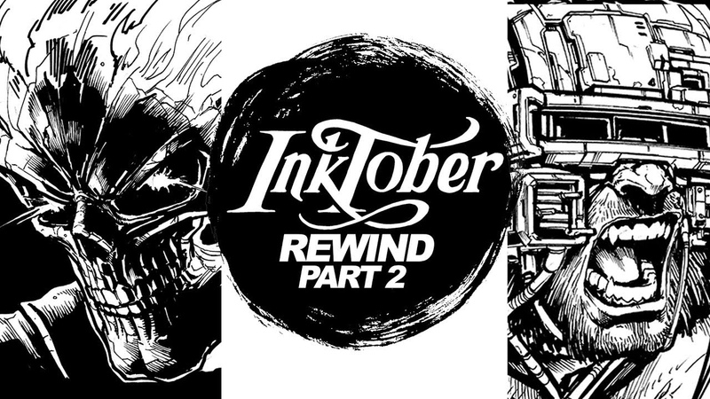 DRAWING WOLVERINE GHOST RIDER VOLTRON and MORE INKTOBER REWIND PART 2
