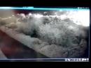Syrien 08 05 2018 Videoüberwachung zeigt israelischen Luftangriff auf iranische Einheiten in der Nähe von Kiswah