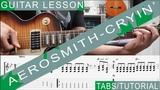 Aerosmith, Cryin' COMPLETE Guitar Lesson, Solo, Chords, Riffs, Licks, Harmonica, Guitarra