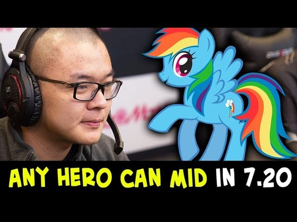 Any hero can mid in 7.20 — TOP-2 Rank MidOne