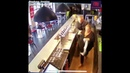A horse galloped into this cafe in France