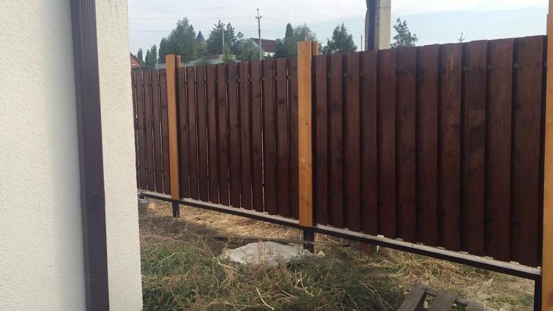 Забор из деревянного штакетника, доски, НЕ ПРОФЛИСТ! забор дерево, недорого, красиво.