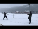 4.12.17 игра в снежки где-то под Зальцбургом. Ильдар Абдразаков и Роландо Вильясон.