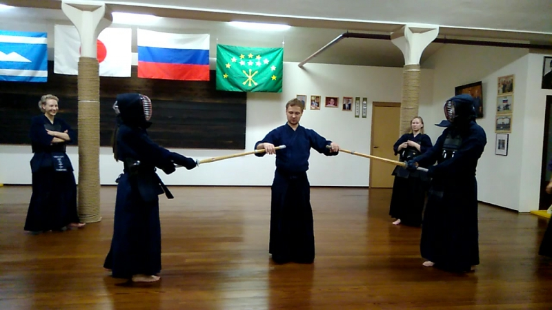 Мекакуси-кендо. Юлия Дзидо VS Александр Чмыхов