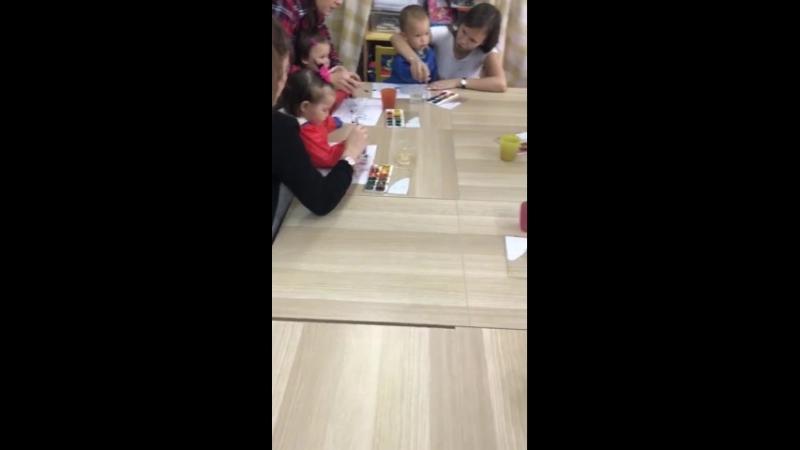 Занятие Мама малыш в частном детском саду Мозаика republic