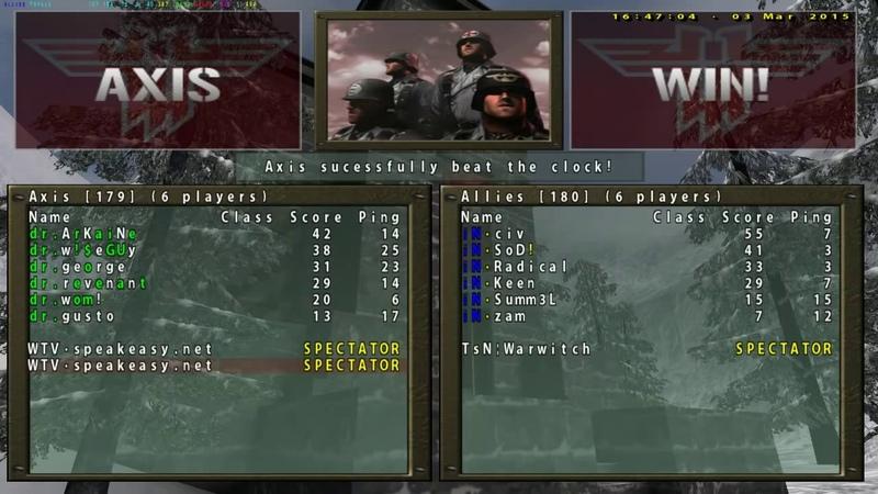 RTCW: Doctors vs. iNfensus - QuakeCon 2002 Finals (08.17.02) - Warwitch, Justice Boomerman Shoutc