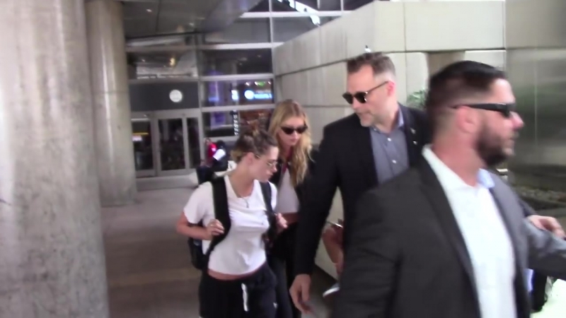 Kristen Stewart And Stella Maxwell arrived at LAX - May 20