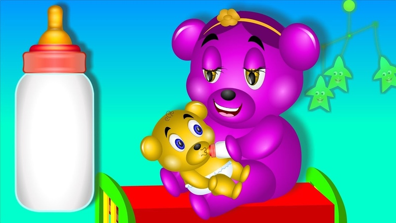 Little Gummy drinking milk Finger Family (MOTHER FINGER)❤️💙💚 Children's cartoons Nursery Rhymes