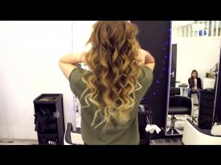 Наращивание волос сразу с Омбре (салон красоты KOPNA)