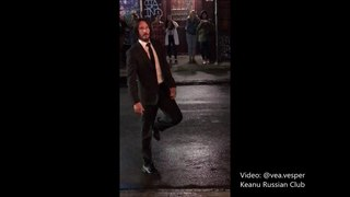2018 Keanu Reeves Filming 'John Wick: Chapter 3' in NY