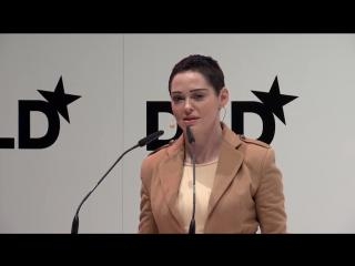 Роуз МакГоун на мероприятии DLD Impact Award by DLD Munich 2018 21 января 2018 (Мюнхен, Германия)