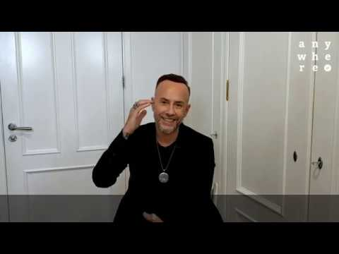 Adam Nergal Darski backstage at Anywhere.pl