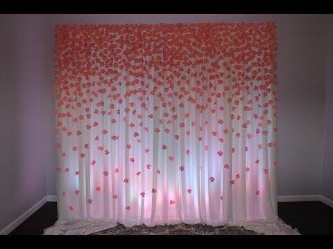 Paper Flower Backdrop DIY, 700 Hundred paper flowers!