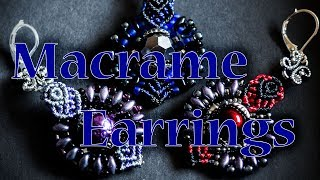 Sumptuous beaded earrings - micro macrame tutorial