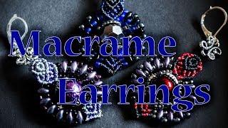 Sumptuous beaded earrings - micro macrame tutorial
