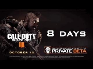8 days to go till the BlackOps4 MP Beta begins on PlayStation 4!