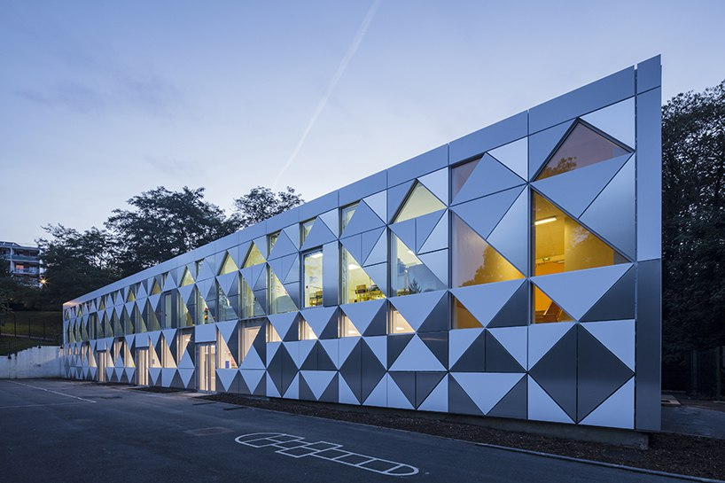 Design crew for architecture renovates primary school in France with aluminum facades