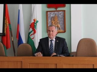 Поздравление с 55-летием председателя городского Совета депутатов Виктора Никонова
