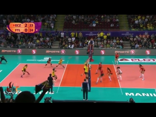 Great rally between eczacibasi vitra and psl manila - filipino fans are amazing - ᴴᴰ ®
