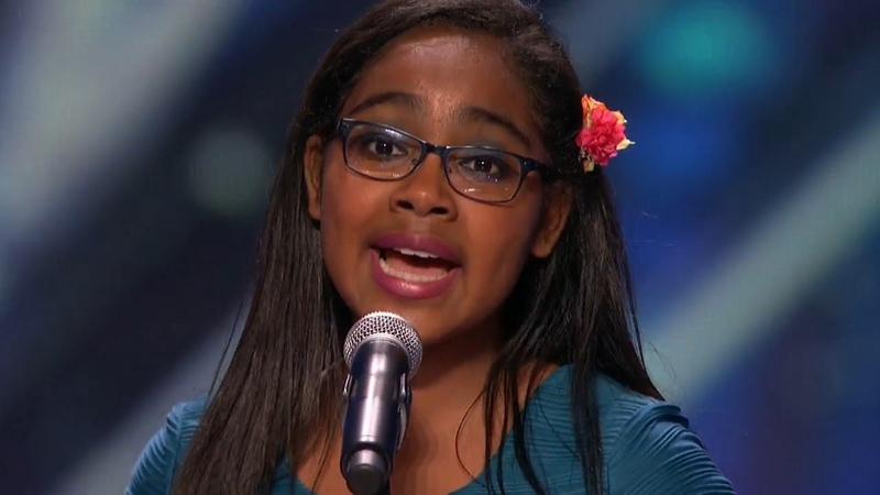 America's Got Talent 2015 S10E05 Arielle Baril Amazing 11 Year Old Singing Surprise