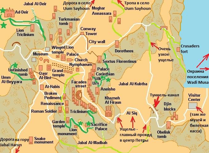 карта древнего города Петра