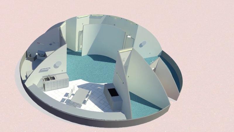 Northwestern University Phase 3 Level 1 of NASA's 3D Printed Habitat Challenge